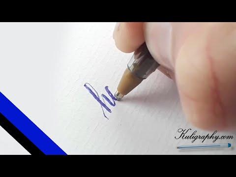 Ballpen Calligraphy - happy - (2020) BIC ballpoint