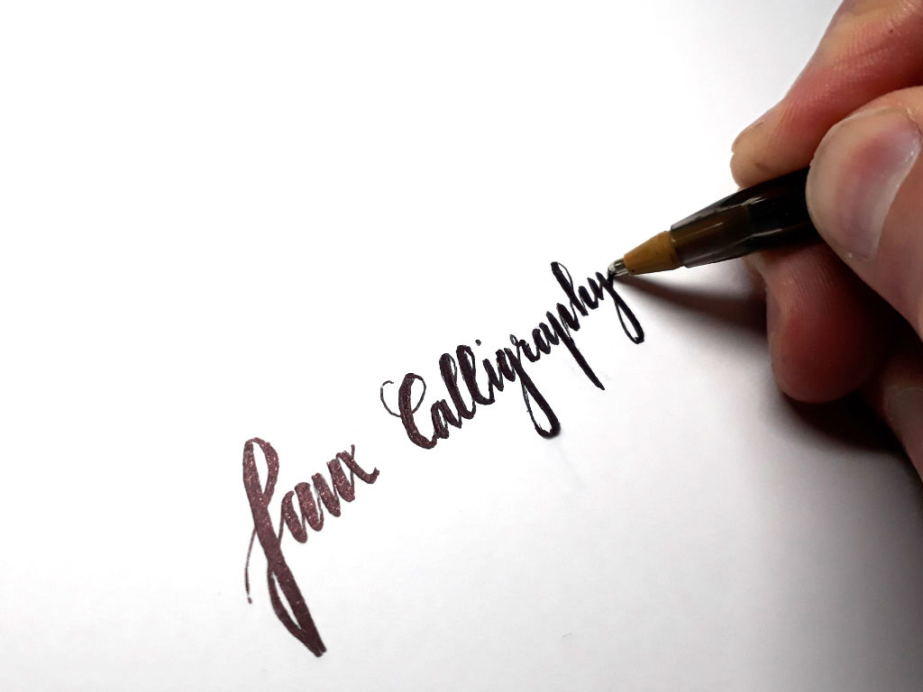 faux-calligraphy-ballpoint-pen