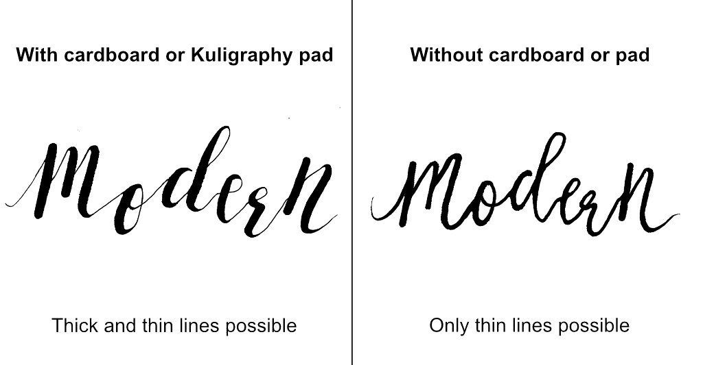 Kuligraphy-pad-different-lines