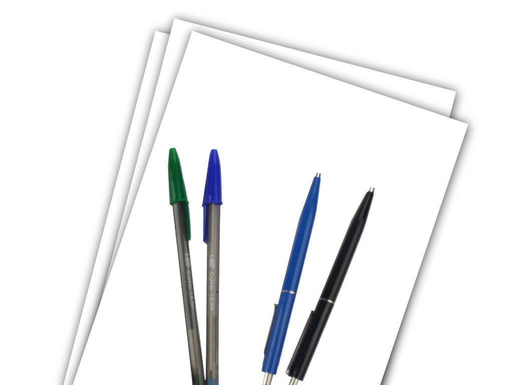 faux-Kuligraphy-ballpoint-pen-paper