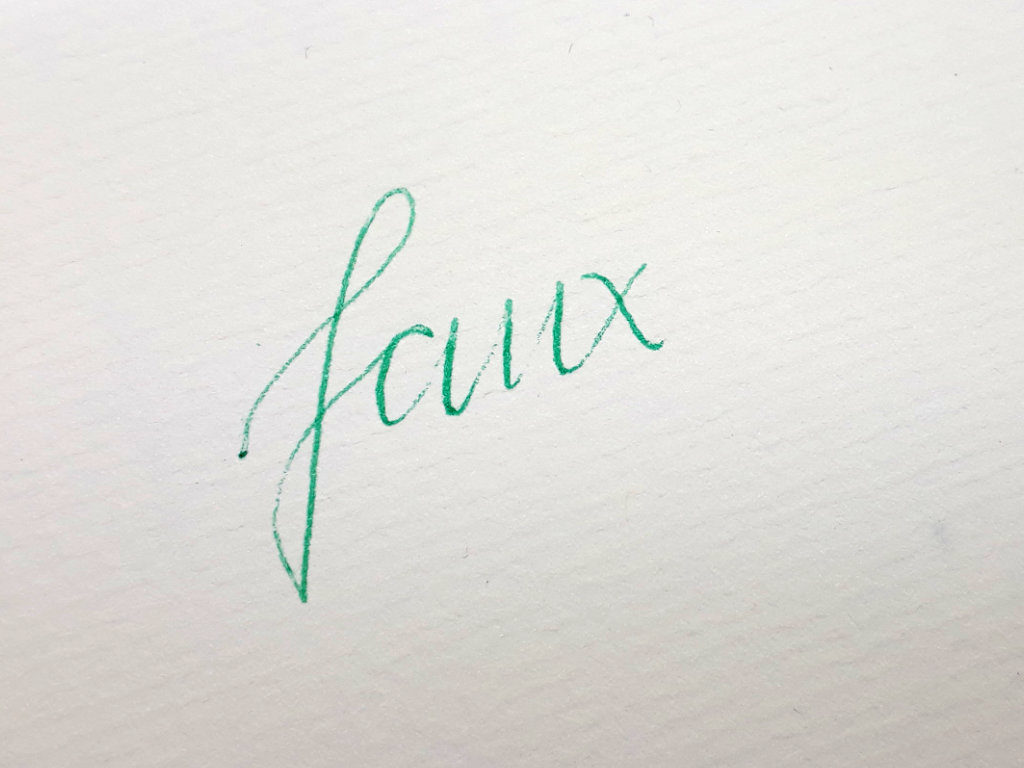 faux-kuligraphy